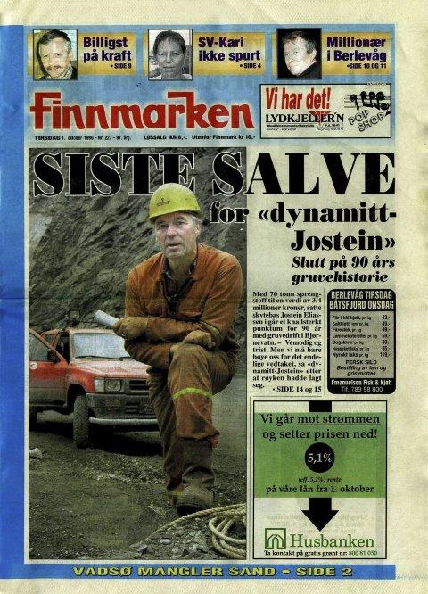 Finnmarken tirsdag 1. oktober 1996: Jostein Eliassen etter den siste salven i Bjørnevatn.