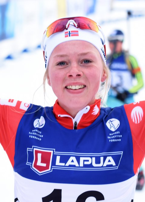 TIL EM: Skiskyttaren Karoline Erdal skal gå EM. – Det var veldig kjekt å bli tatt ut, seier 23- åringen frå Førde.