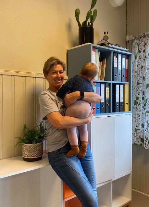 30 ÅR: Brita Fredriksen har i 30 år jobbet i Tommeliten barnehage i Stamsund.