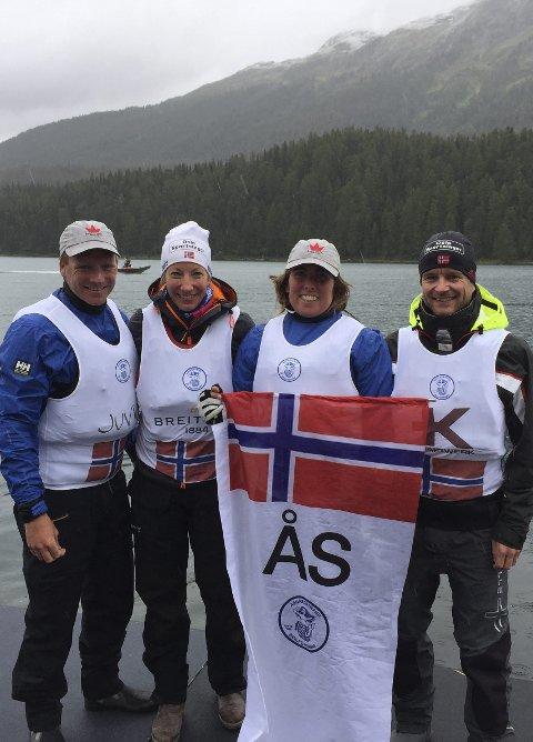 LITT BLANDET: Åsgårdstrand-seilerne fikk både oppturer og nedturer under finalen i Sailing Champions League i St. Moritz sist helg.