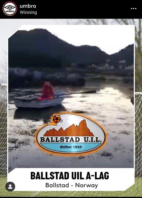 VANT: Ballstad UIL sendte inn den beste norske videoen til utstyrsgiganten Umbro.