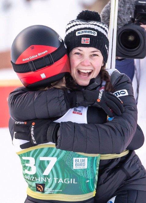 PÅ PALLEN: Silje Opseth fra Hole tok sin første pallplass i verdenscupen noen gang på Lillehammer mandag. Bildet er fra et tidligere renn.