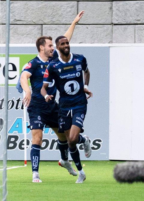 SCORET MOT GAMLEKLUBBEN: Amahl Pellegrino scoret mot MIF i sin Kristiansund-debut.