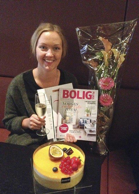 Feiret: Vinneren fikk hotellovernatting og champagne i Oslo. Foto: Mari Buckholm