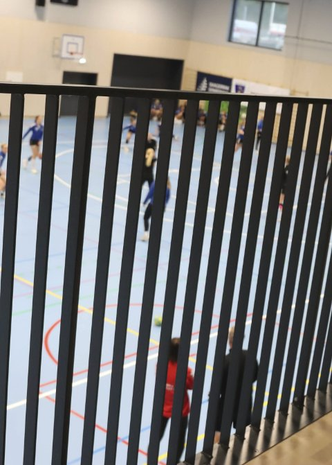 Tribune: Slik er utsikten fra tribunen i Bambles nye storstue.