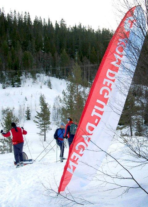 KOM DEG UT: Søndag 21. januar er sjølve stiftingsdagen for Den norske turistforening. det blir markert over heile Telemark. Her frå ei tidlegare markering.