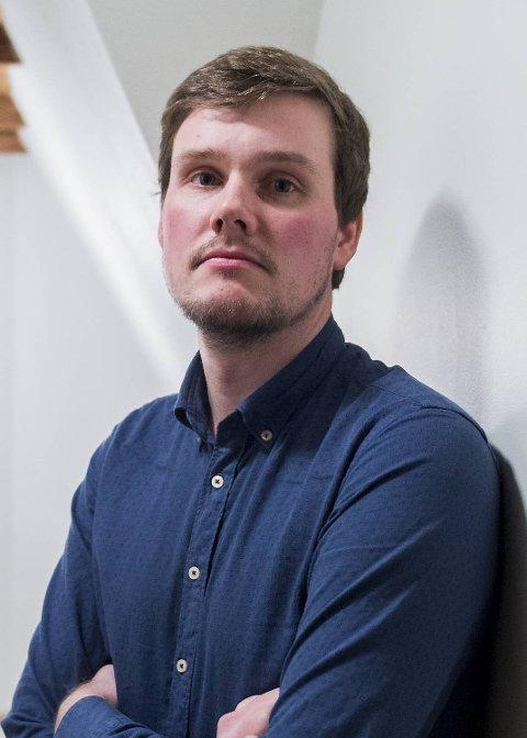 Gjert Moldestad er talsmann for NSA, men også Brann-supporter og redaktør for 12 mann-magasinet. Bildet er tatt ved en tidligere anledning.