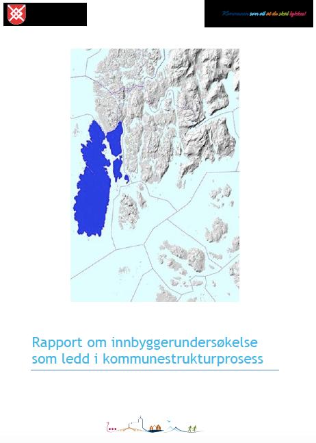 Forsiden til rapporten om innbyggerundersøkelsen i Karmøy i 2015 (1250 deltok).
