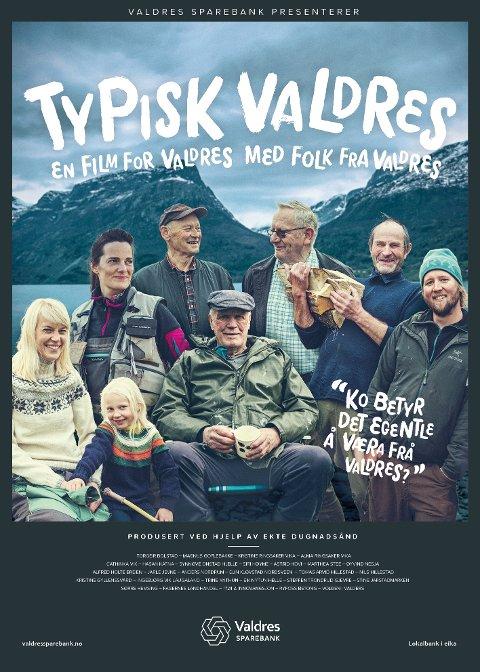 Valdriser på plakaten: Filmen, som i tida framover skal gå som forfilm på Kvitvella kino på Fagernes, har også fått sin egen filmplakat.