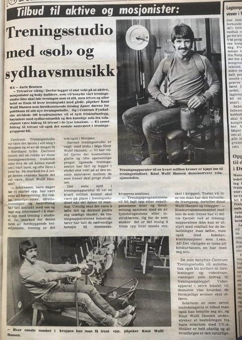 NYHET: Slik ble nyheten om treningsstudio i Mosjøen presentert i Helgeland Arbeiderblad 28. august 1981. Når Frisk 3 har feiret 40 år, kan det være interessant å se litt tilbake. Faksimile Helgeland Arbeiderblad