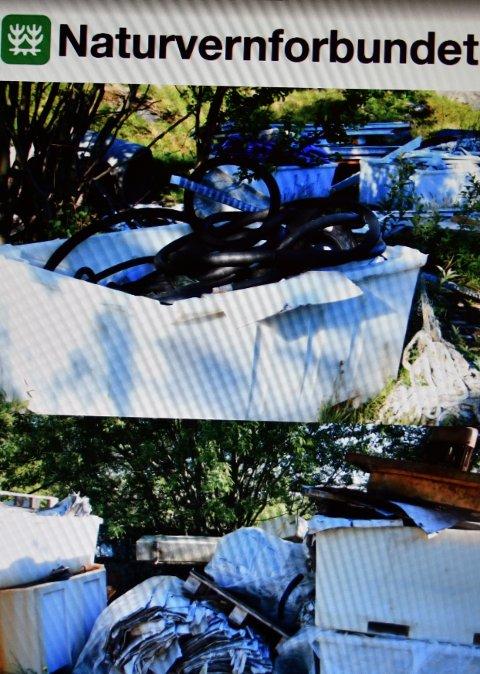 AVFALL: Naturvernforbundet i Lofoten vil ha ryddet opp i nærheten av fergeleiet på Moskenes.