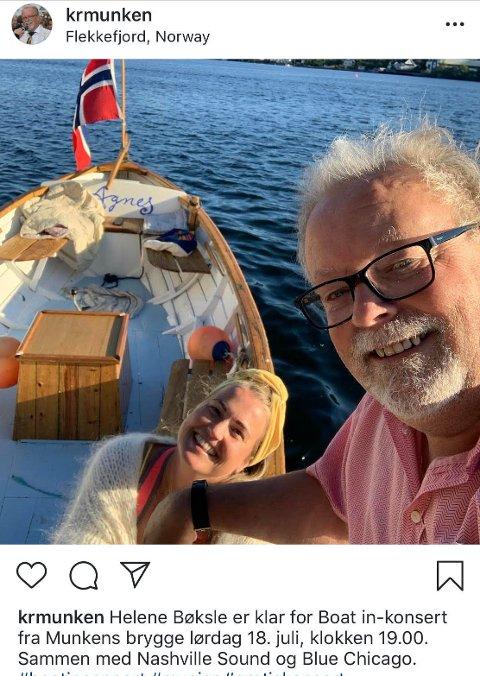 AVLYST: Helene Bøksle hadde sagt ja til å bli med på redaktør Kristen Munksgaards konsert.