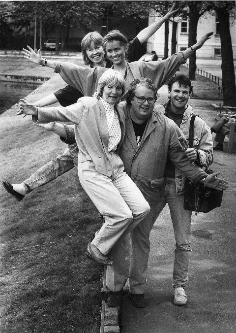 Radiomoro ved Smålongeren i 1988. Knut Borge sammen med (f.v) Randi Baadstø, Hilde Hummelvoll, Kristin Hetle og Atle Nielsen.