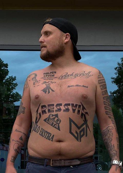 – ,Jeg tror jeg nærmer meg 35 tatoveringer, forteller Staysman som har gått ned 13 kilo på tre måneder.