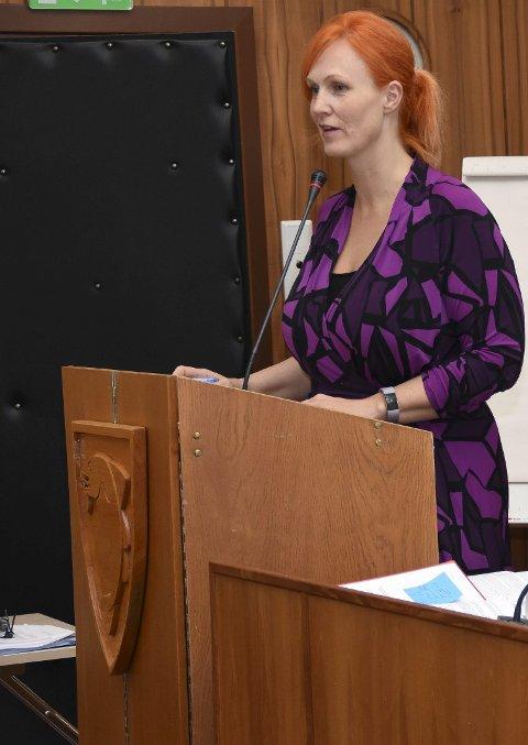Interpellasjon: Lena Hamnes (Ap) la fram en interpellasjon i forståelse med V, SV og Rødt. Forslaget om brev til Europarådet fikk en stemmes overvekt under behandlingen mandag.Alle foto: Øystein Ingebrigtsen