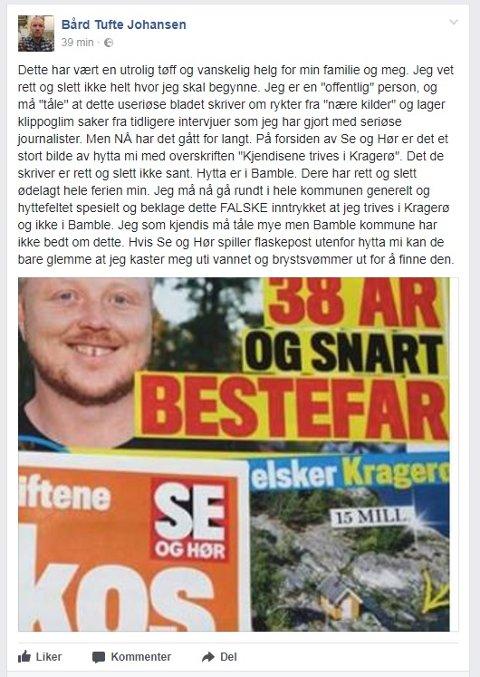 FOTO: Skjermdump fra Facebook.