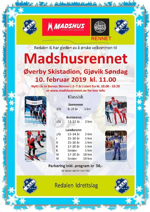 Invitasjon Madshusrennet 2019