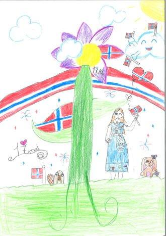 VINNER: Årets vinnertegning av Silva Skog Moholdt, 6. trinn ved Hamar Montessoriskole.