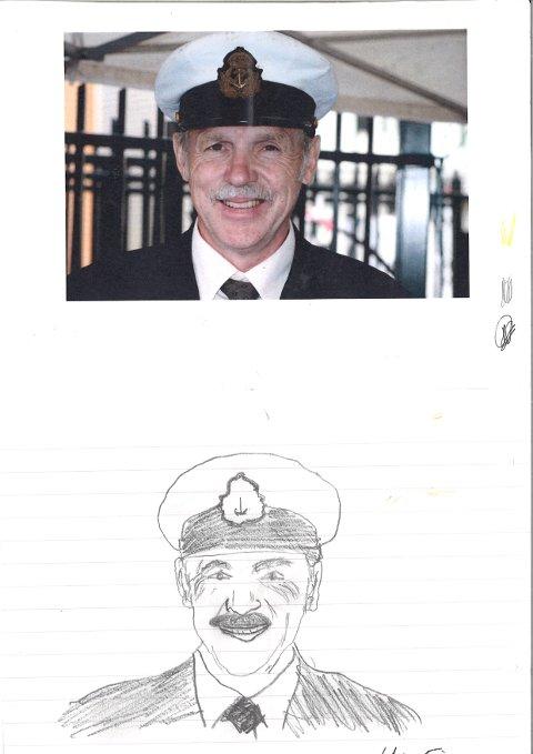 VANT? Vi synes dette var beste tegning av Sildakongen, selv om vi mistenker at kunstneren har lagt arket over for å tegne av. Slikt er lov blant kriminelle.