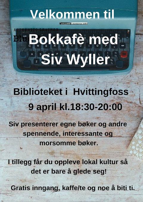 Søk opp Hvittingfoss bibliotek på facebook, lik oss og få med deg nyheter, arrangement og andre nyttige tips.