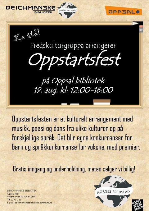 Oppstartsfest på Oppsal bibliotek