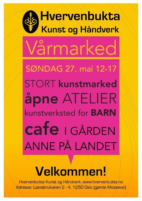 Plakat for markedet.