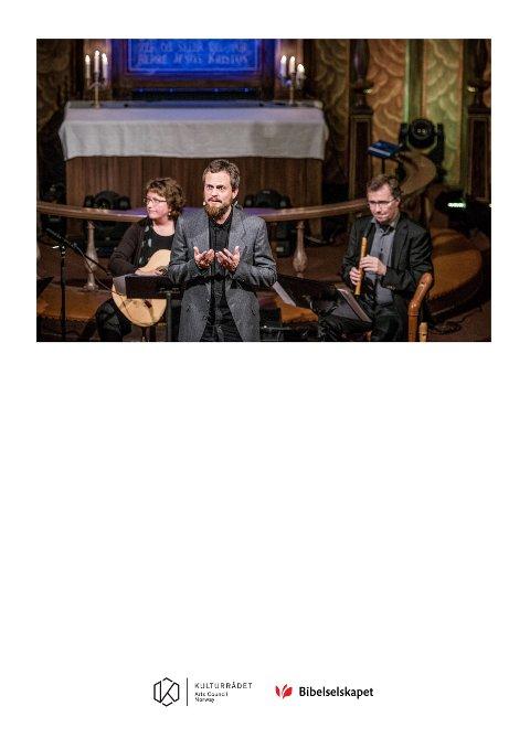 Fra forestillingen om Elia, med Alf Martin Lie ( forteller) Ulla Käll ( gitar) Svein Egil Skotte ( blokkfløyter)