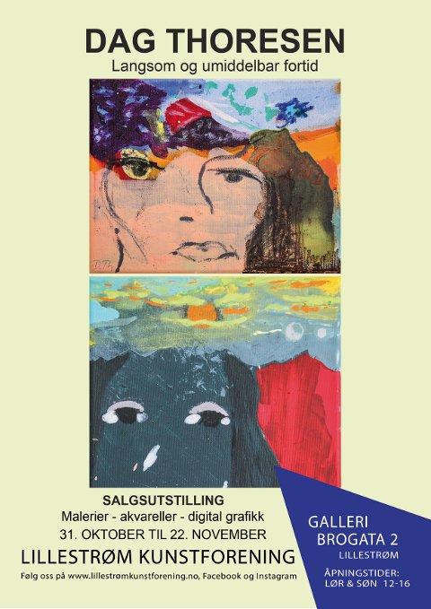 Utstillingsplakat Dag Thoresen i Galleri Brogata 2