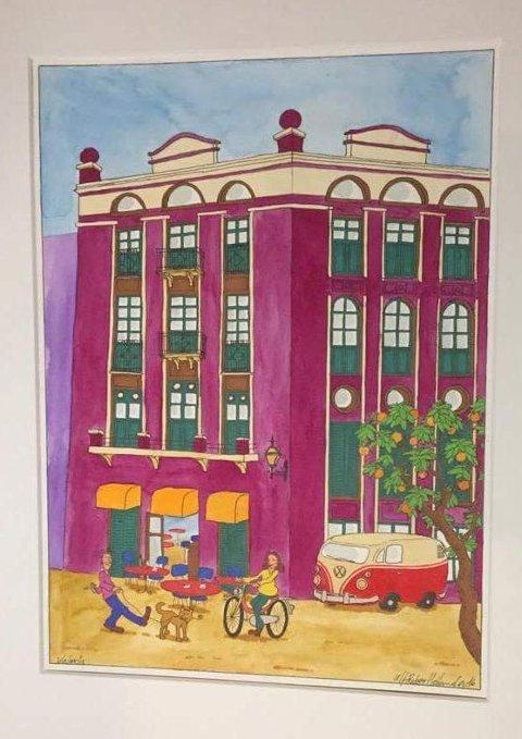 Et høyt bygg er ikke nødvendigvis et uvennlig bygg, men det på tilpasse seg livet på gateplan og bygningen rundt. (Akvarell av Ulf Heiland fra Valencia, Italia)