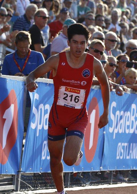 IKKE LANGT FRA BRONSE: Jonathan Jacobsen var overraskende tett på medalje på 400 meter under sitt første senior-NM.