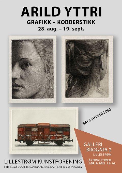 Plakat for utstilling med Arild Yttri i Galleri Brogata 2 i Lillestrøm