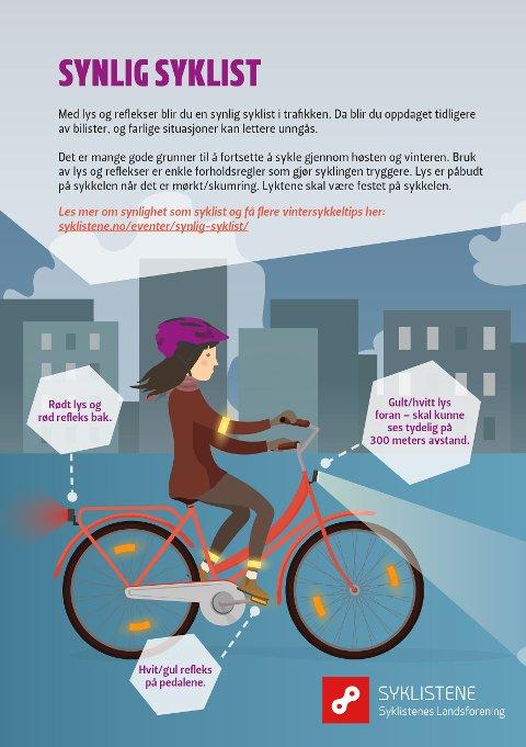 Syklistenes Landsforening har en kampanje hver høst.