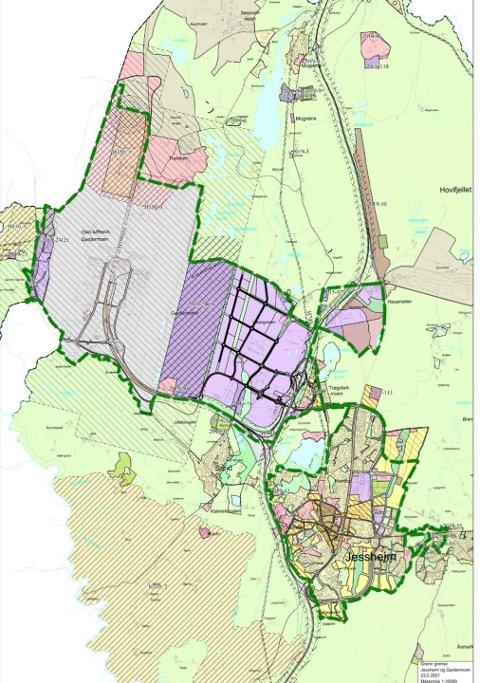 DRAR I BREMSEN: Kommunestyret i Ullensaker vedtok før påske å verne naturområdene rundt Jessheim.