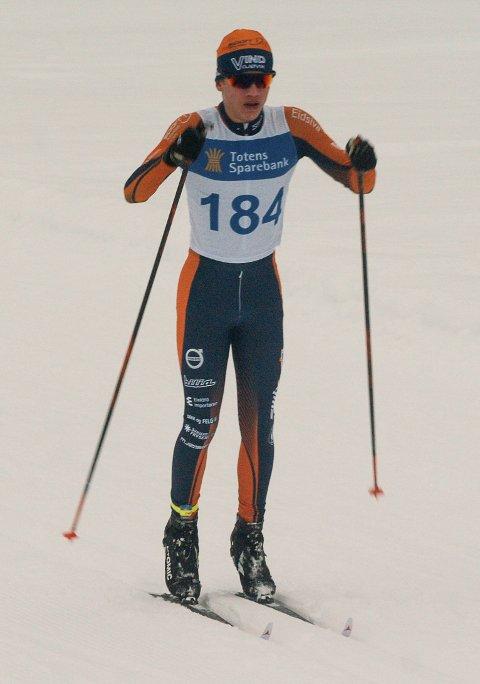 KLASSEVINNER: Sindre Østlien Evensen fra Vind IL ble vinner av klassen for gutter 14 år.
