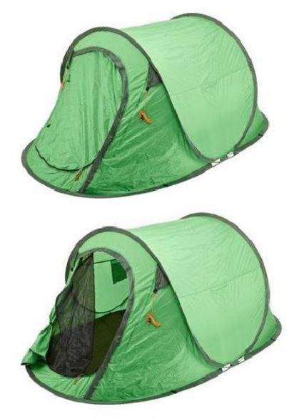 KVELNINGSFARE: Har du et slikt pop up-telt fra Biltema, bør du ikke bruke det. DSB advarer mot at teltet har dårlig ventilasjon og kan forårsake kvelning, spesielt om mange oppholder seg/sover i teltet.