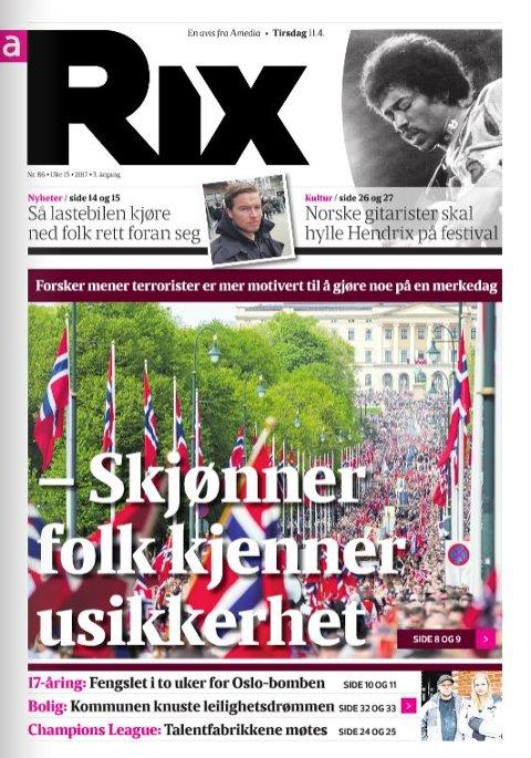 RIKSDEKKENDE: Rix plukker de beste sakene fra 64 lokalaviser og fra nyhetsbyråene.