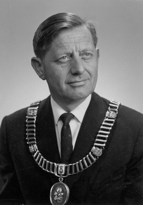 STAVANGERS ORDFØRER: Haugesunderen Leif Larsen (Ap) ble valgt til ordfører i Stavanger i 1967.