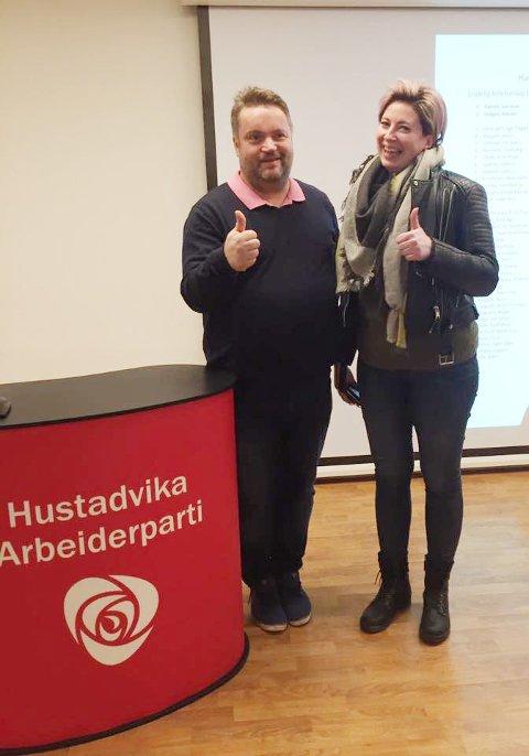 Jan Arve Dyrnes og Renate Drågen topper Ap-lista i Hustadvika kommune.
