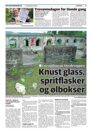 FORSØPLING: Faksimile av onsdagens oppslag i Oppland Arbeiderblad
