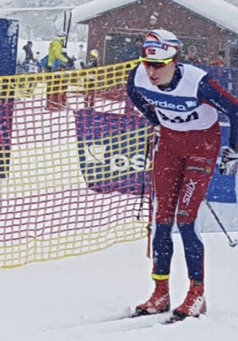Ivrig: Andreas Sørsdal G15 fyker ut fra startstreken – gir alt.