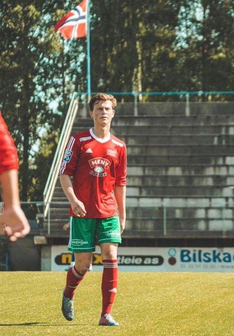 Hat-trick: Anders Bjørntvedt Olsen sto for et ekte hat-trick da Halsen slo Start 2 hele 5-1 lørdag ettermiddag.