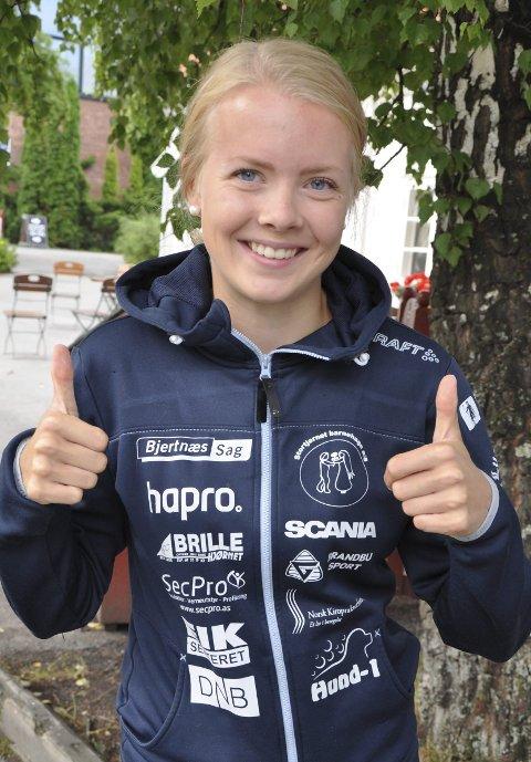 HÅPER: Ine Skjellum håper at skolen tilrettelegger for både trening og undervisning på Lygna fra høsten av.