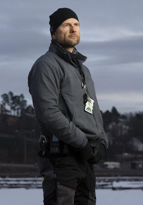 Da terroren rammet: Innsatsleder i Nordre Buskerud politidistrikt, Håvard Gåsbakk, var på jobb da terroren rammet Norge 22. juli i 2011. Han pågrep massemorderen på Utøya. Foto: Sverre Chr. Jarild