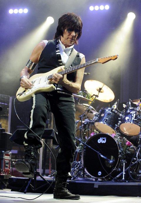 STJERNEMANN: Gitarist Jeff Beck til Skånevik i juli.