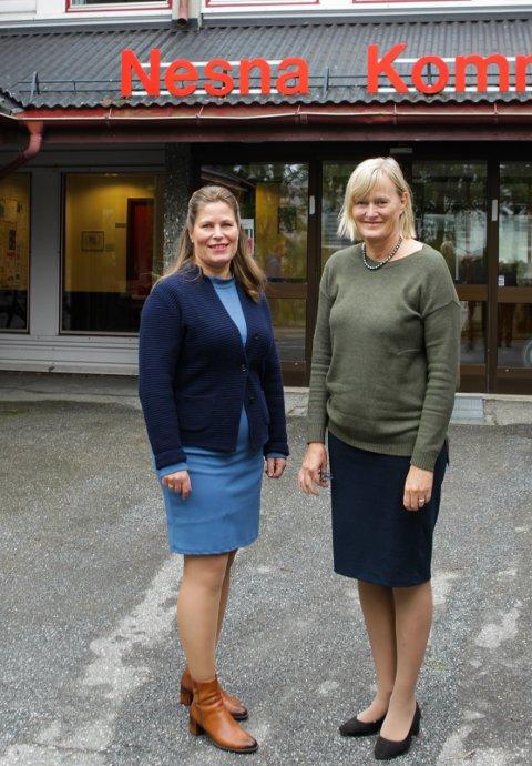 Fylkesråd for næring Nordland fylkeskommune Linda Haukland og ordfører Nesna kommune Hanne Davidsen