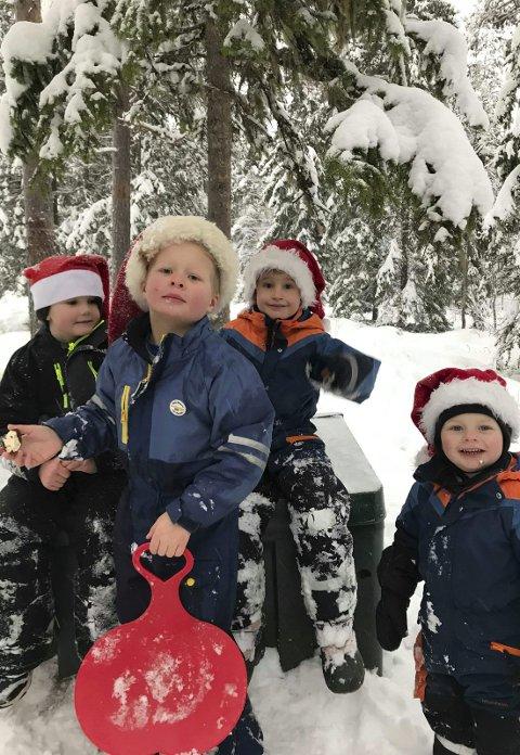 Gleder seg til jul:  Etter juleavslutningen har alle sammen juleferie