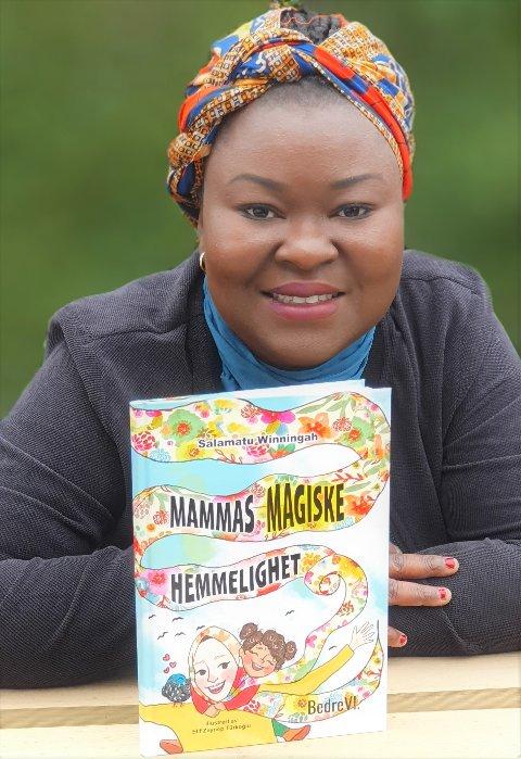 Salamatu Winningah debuterer nå som barnebokforfatter. Lanseringen blir dessverre preget av at hun fredag fikk positivt svar på en koronatest. - Jeg er ganske fin i formen, men lanseringsfesten henger i en tynn tråd, sier hun.