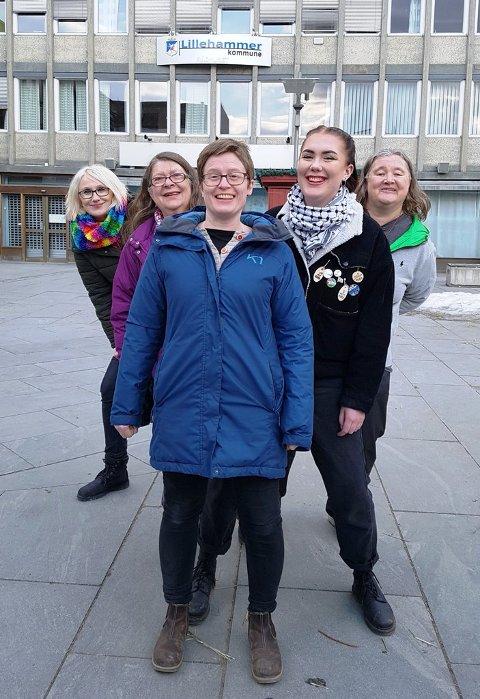 Fra venstre: Line Lange-Nielsen, Hanna Røberg, Eva Marie Mathisen, Oda Beer-Mølslett og Merethe Lindstad.