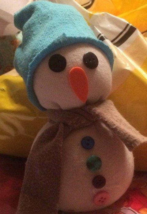 På Redesign kan gamle sokker bli fine snømenn!