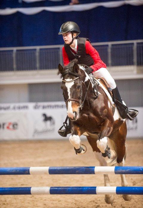 VANT: Sandra Martinsen-Melleby i sprangkonkurransen som hun vant.